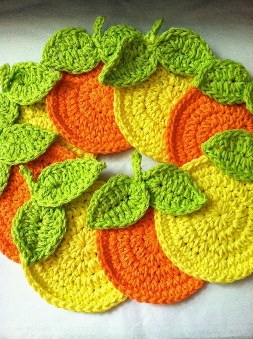 ♪ Crochê em Laranjas - / ♪ Crochet in Oranges - | Rita Zavarize ...