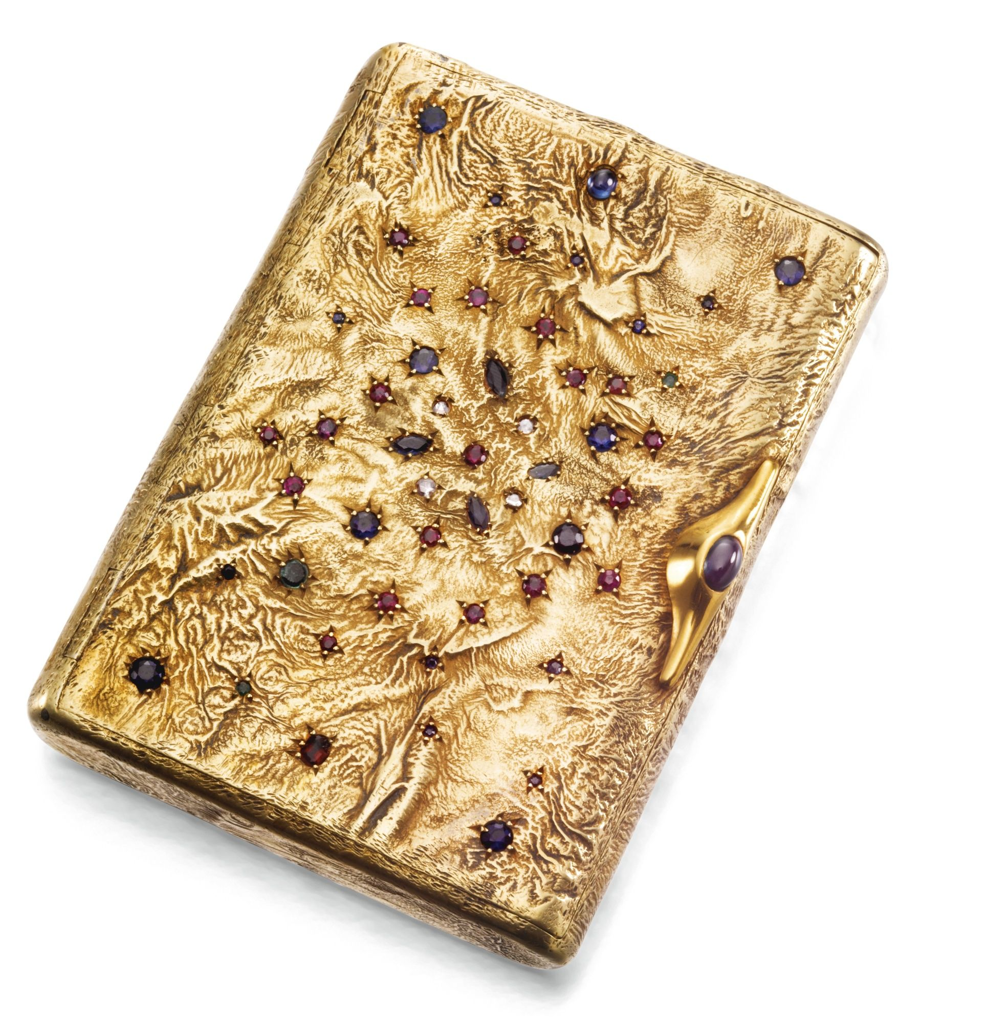 A FABERGÉ SILVER-GILT SAMORODOK CIGARETTE CASE, ST PETERSBURG, 1908-1917  ♨️More At FOSTERGINGER At Pinterest ♨️