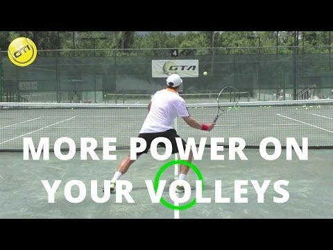Tennis Tip More Power On Your Volleys Net Domination Video 1 Youtube Tennis Lessons Tennis Techniques Tennis Tips