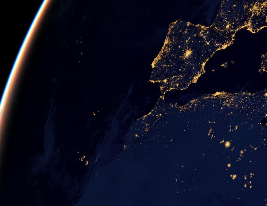 españa y canarias vistas desde el espacio   Imágenes de la tierra de noche, desde el espacio   Soy402.com