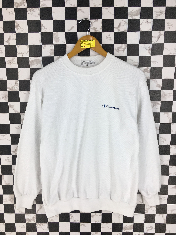 Champion Products Pullover Sweater Medium Vintage 90 S Etsy Champion Sportswear White Crewneck Sweatshirt Sweaters [ 3000 x 2250 Pixel ]
