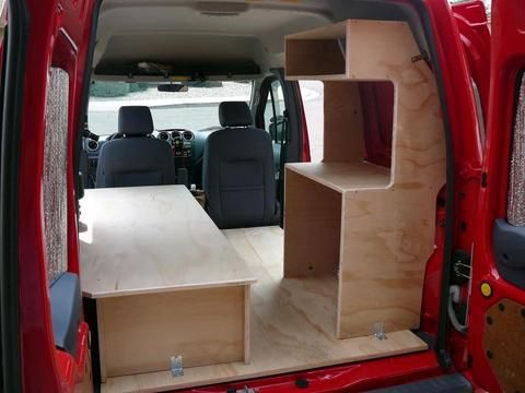 The Bed And The Shelf Unit Installed Van Life