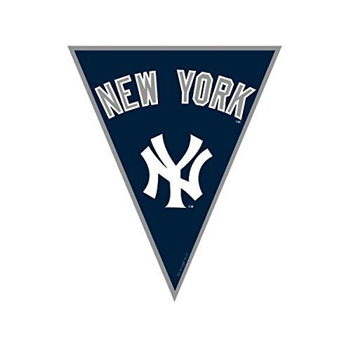 New York Yankees Major League Baseball Collection Pennant Banner Party Decoration Review Baseball Pennants Yankees Team Kids Party Banner