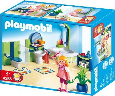 Amazon Com Playmobil Family Bathroom Toys Games Playmobil