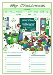 English worksheet: MY CLASSROOM | esl ideas | School