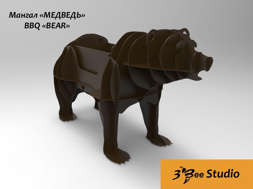 Bbq Bear 3d Puzzle Vector Plan For Plasma Cnc  # Beestudio Muebles