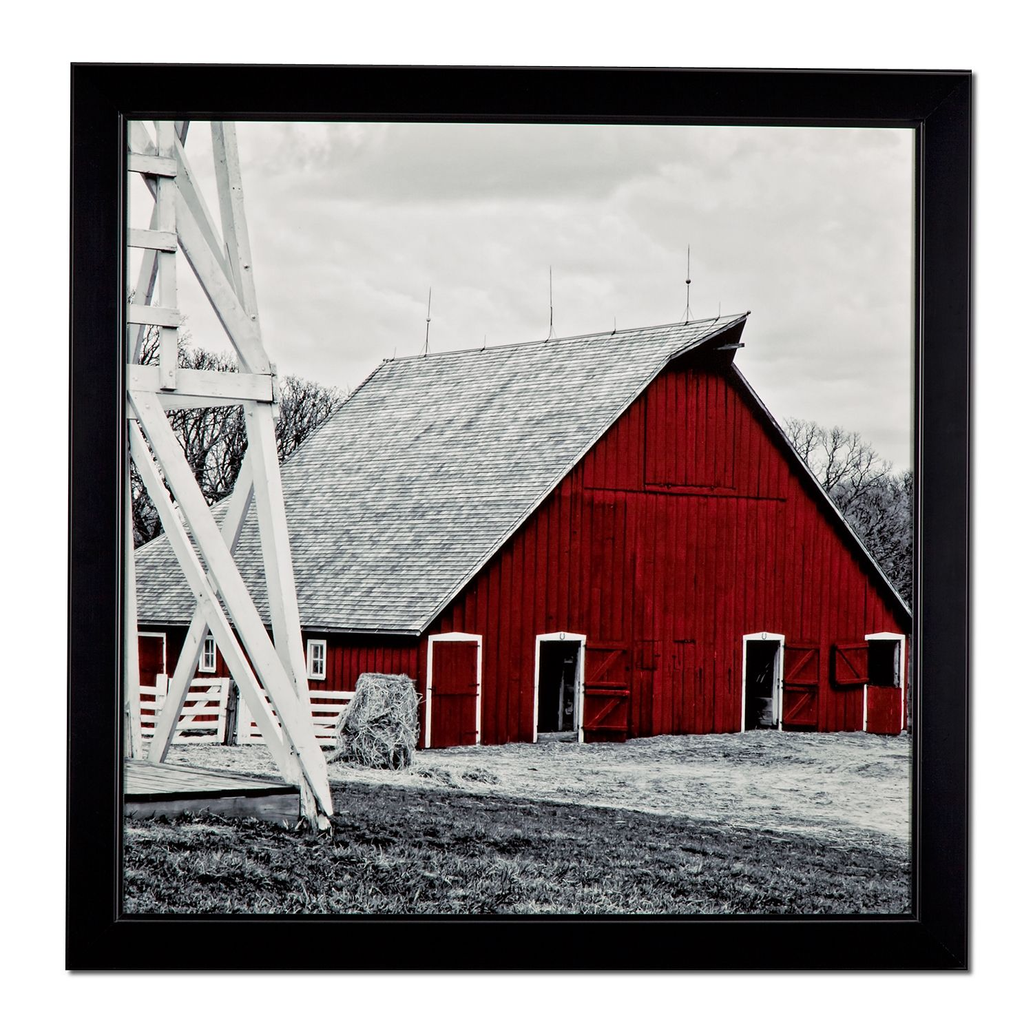 Old Red Barn Framed Print | American Signature Furniture