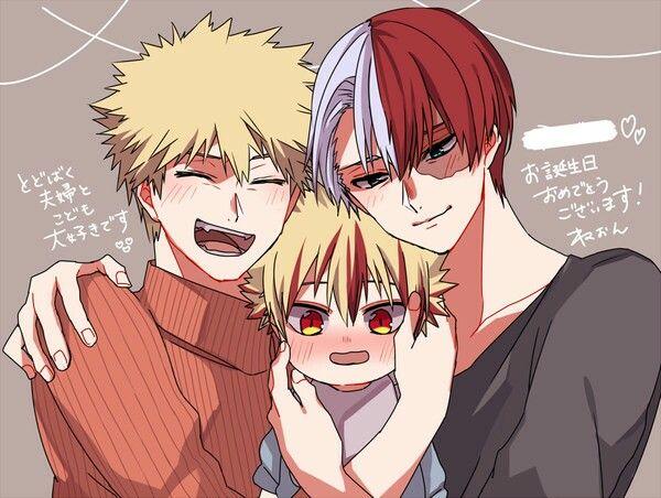 Todoroki shouto x Bakugou katsuki #todobaku #bakutodo #family