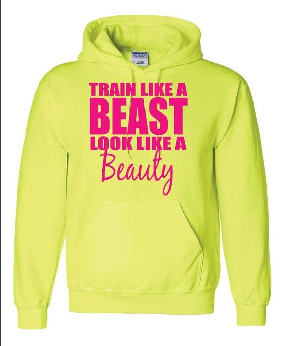 Workout Hoody  Train Like A Beast Look by GraphicsUnlimitedLLC, $26.00