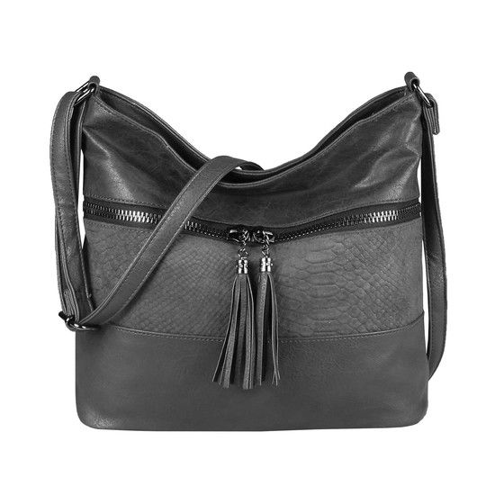 Photo of OBC women bag shopper crossbody shoulder bag shoulder bag leather look crossover handle bag hobo handbag gray