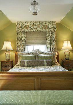 window treatment in back of bed bedroom ideas rh pinterest es