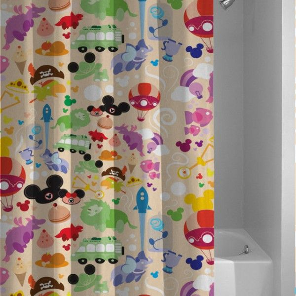 Disney Custom All Character Collage Shower Curtain Disney Shower