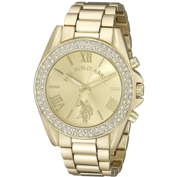 U S Polo Assn Analog Display Analog Quartz Gold Watch 20 Liked On Polyvore Featuring Jewelry Watches Quartz Watches U S Polo Damenuhren Uhren Metall