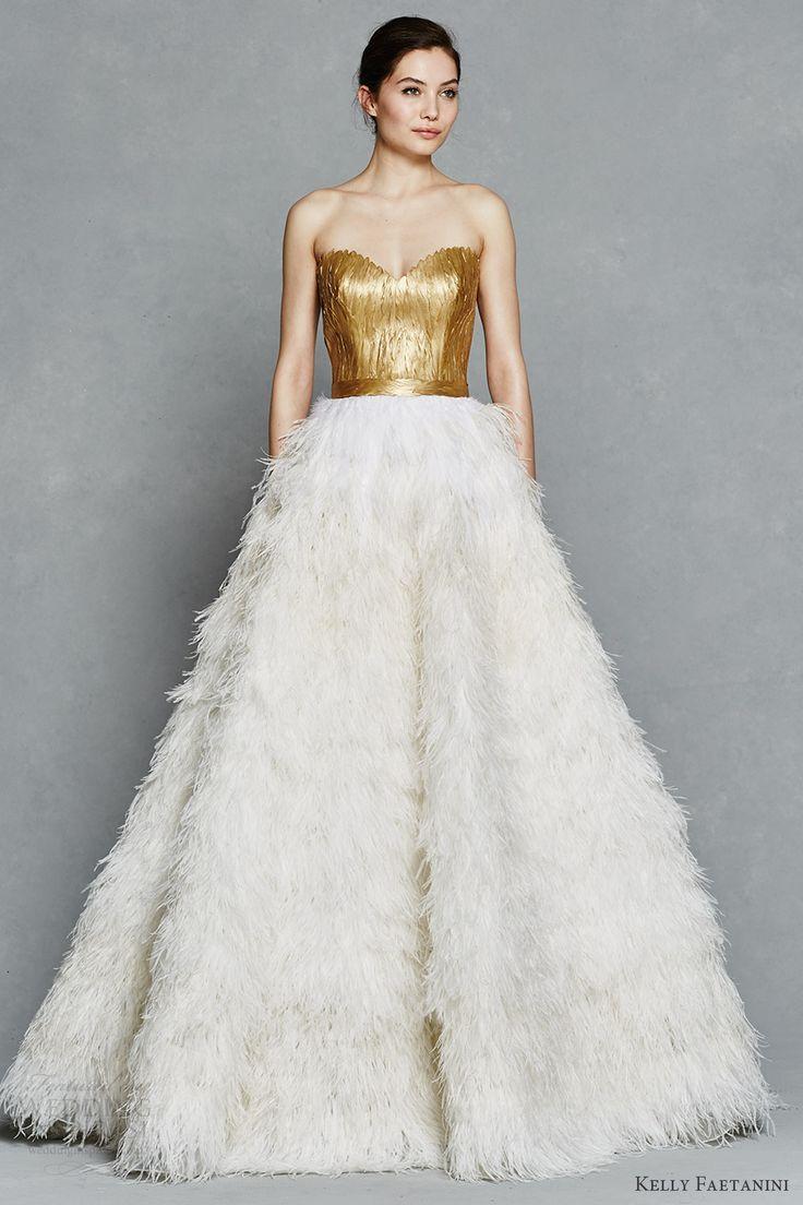 Wedding dresses with gold  Kelly Faetanini Spring  Wedding Dresses Jaglady  Kleider