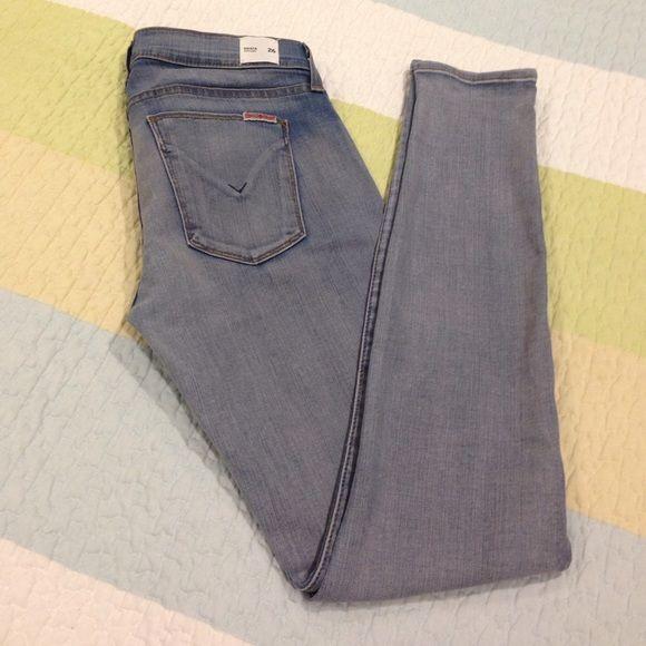 "Hudson jeans Model: Krista, super skinny. Rise: 8"". Inseam: 30"". Light washed colored. Excellent condition. Hudson Jeans Jeans"