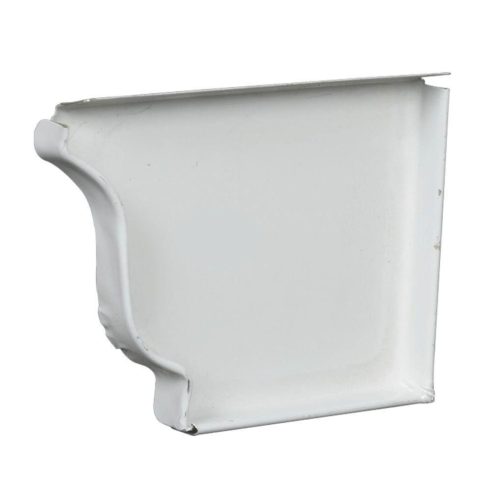 Amerimax Home Products 6 In Aluminum Right End Cap 47006 The Home Depot Home Depot Aluminum Home