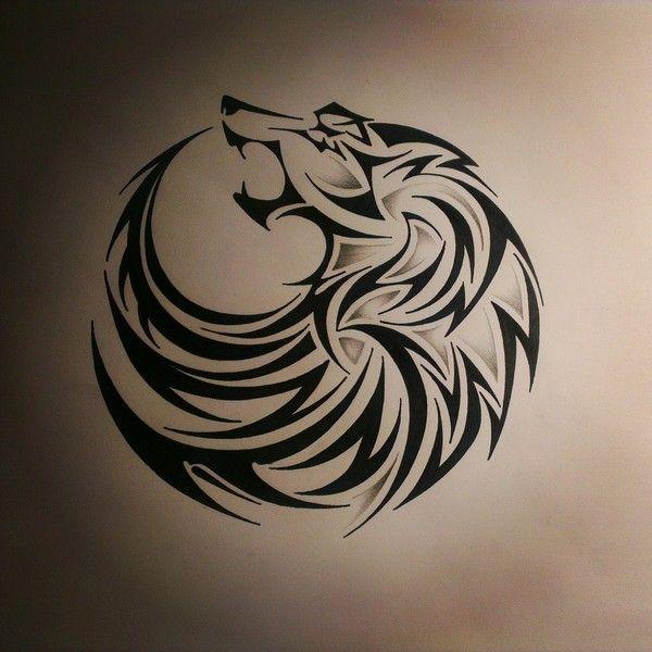 Photo of Stammes-Wolf Tattoos Designs und Ideen ❤ auf Polyvore mit Zubehör gefallen …
