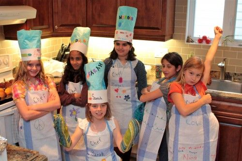 Encourage Kids To Cook By Hosting A Cooking Themed Birthday Party Kids Cooking Party Baking Birthday Parties Party Cooking