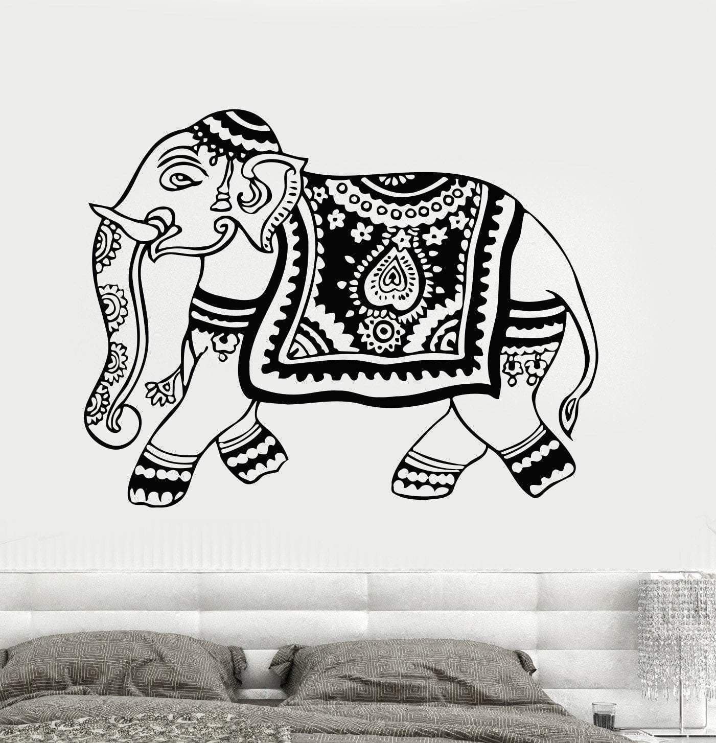 Vinyl Wall Decal Elephant India Hindu Animal Hinduism Art Stickers