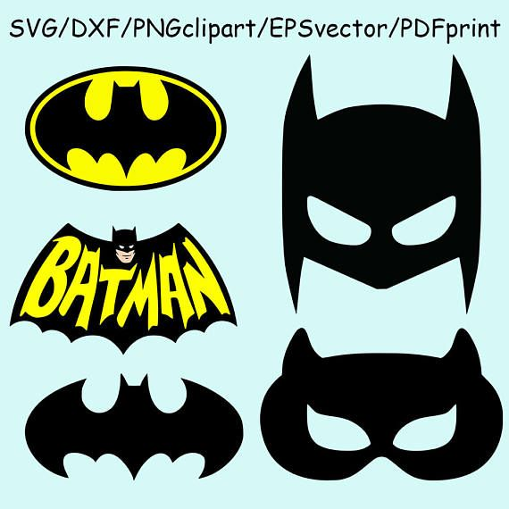Batman Mask Svg Dxf Batman Logo Svg Dxf Batman Printable Batman