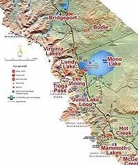 Map Of California Hot Springs.California Travertine Other Hot Springs Of The Sierras Gonomad
