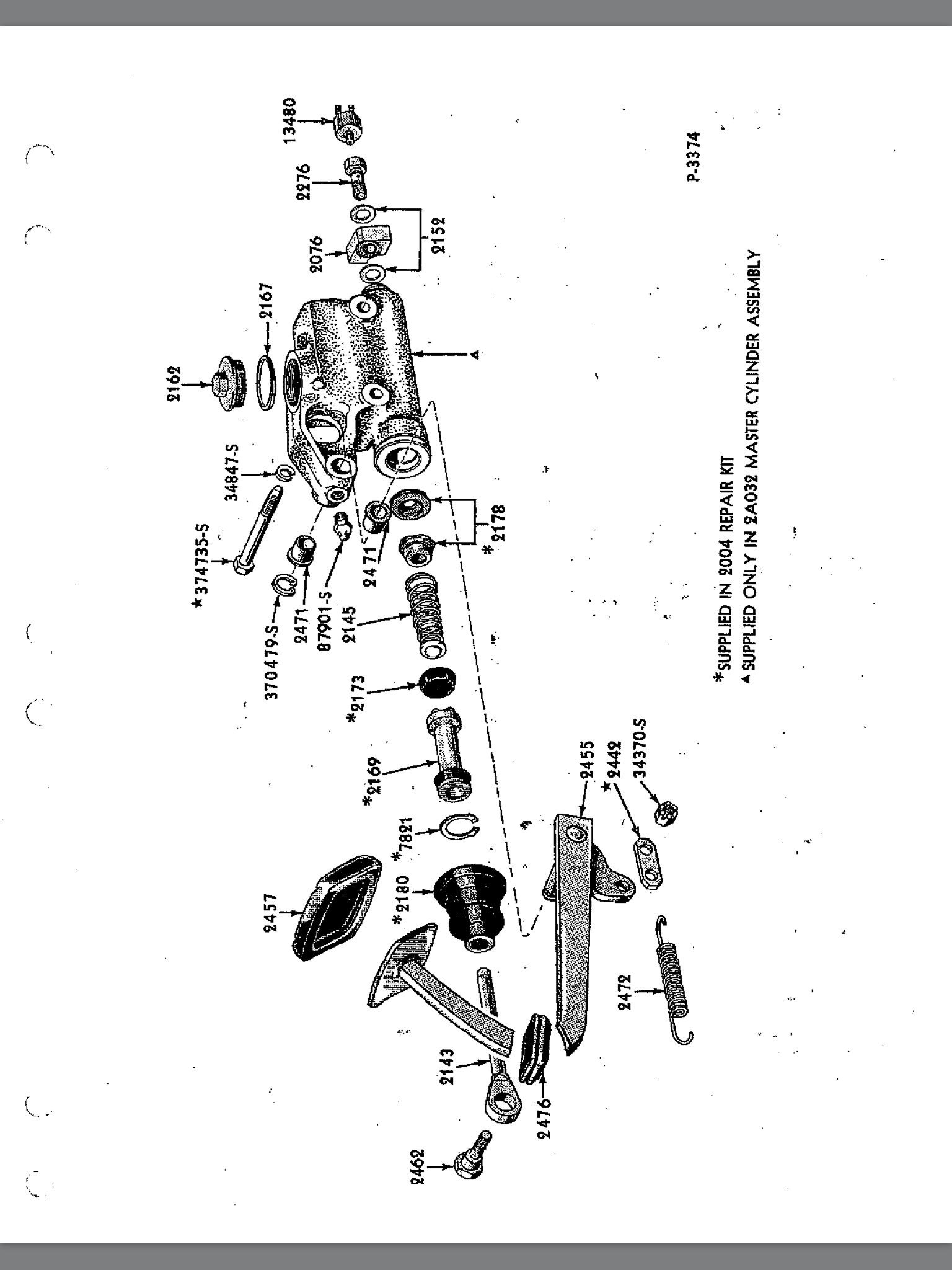 Master Cylinder Exploded View