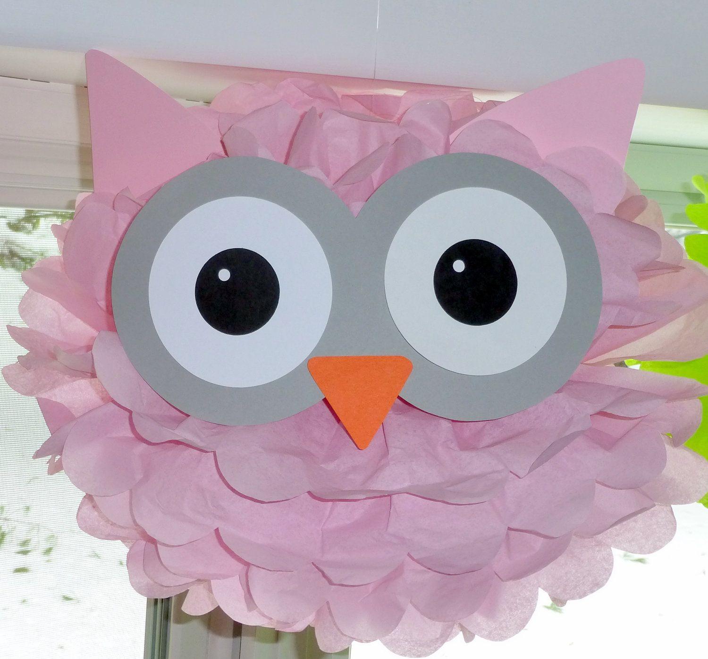 Owl pom pom kit baby shower first birthday party decoration 999