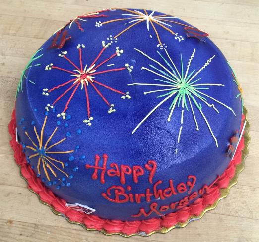 #Birthday cake made by our baker Ken in the #bakery department of our Garden City Park store. #Cake #Dessert #Firework #fireworkcake