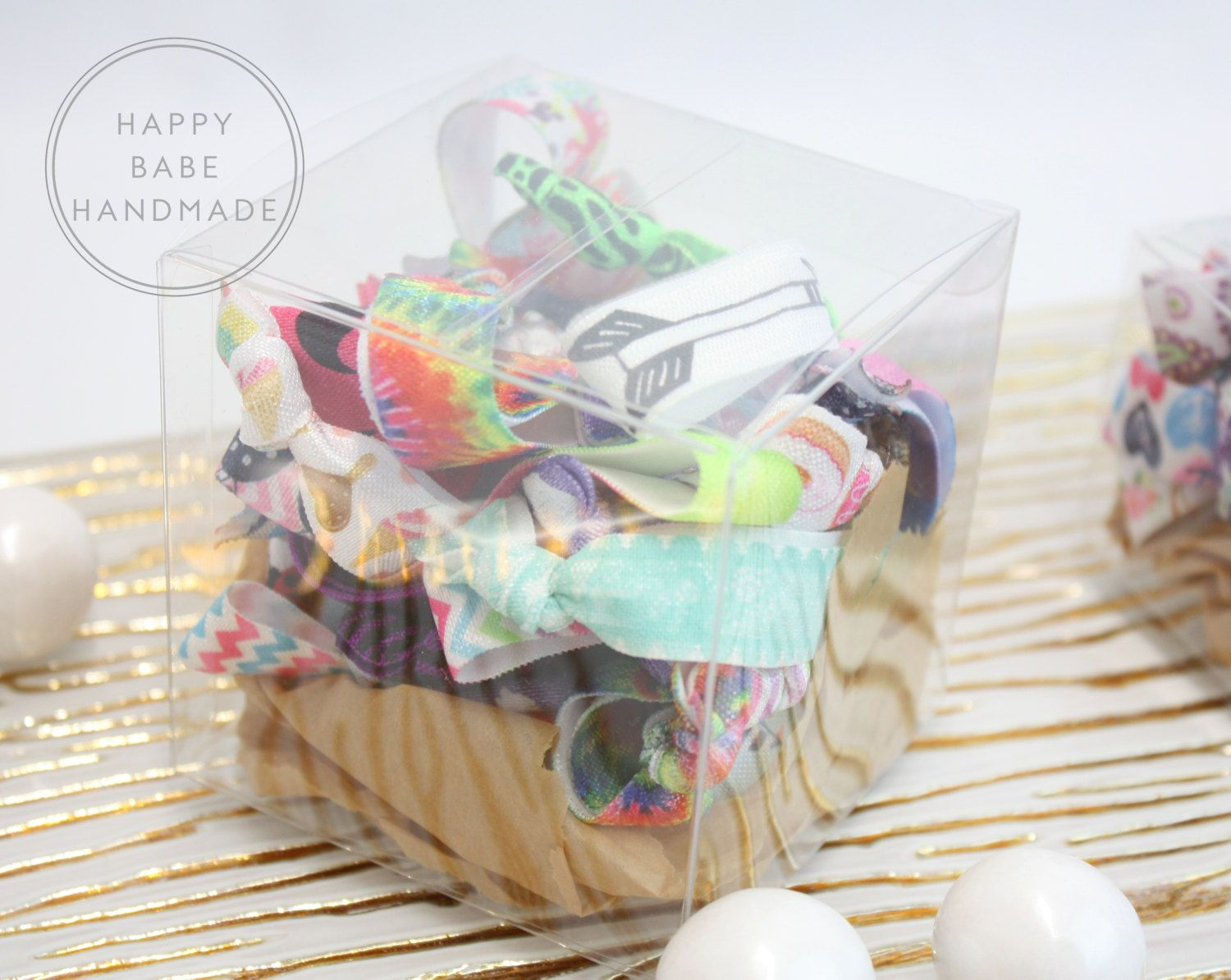 Hair Tie Gift Box, 10 or 25, Bridesmaid Gift, Wedding Party Gift ...