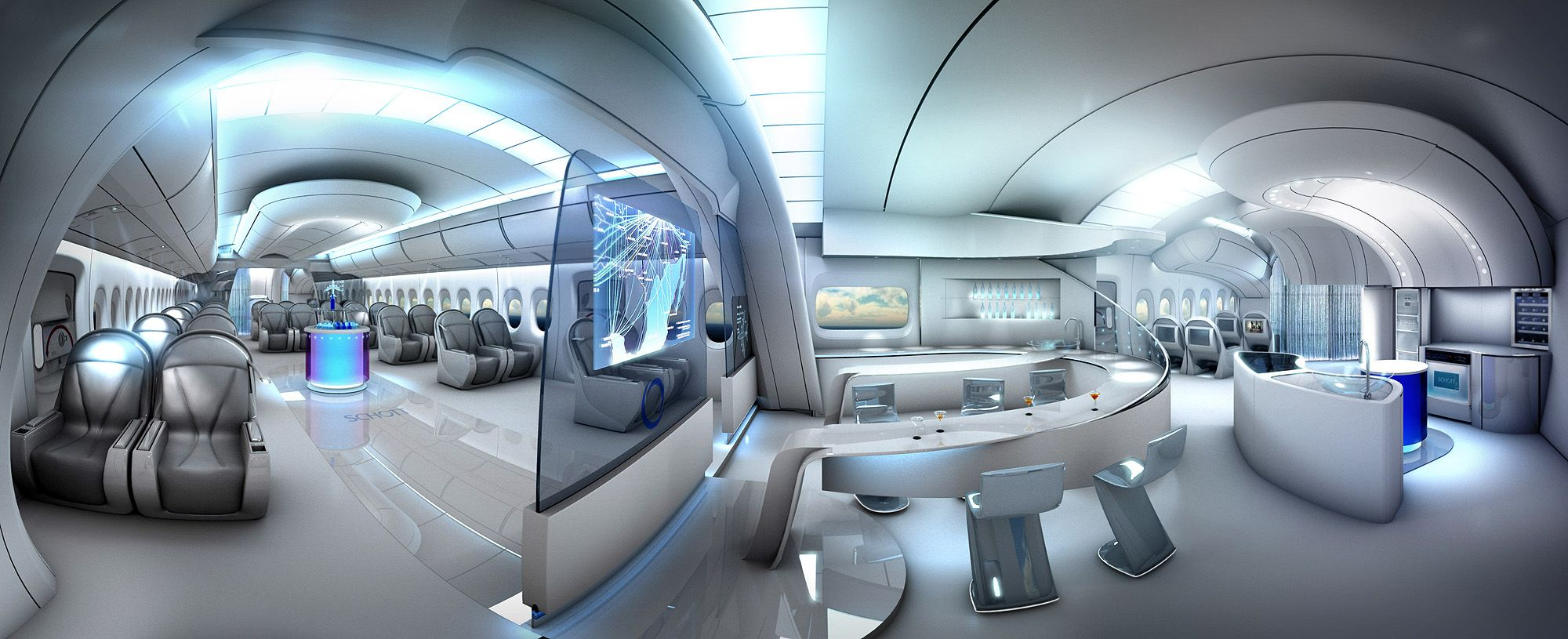 Aviation, Airplane Interior