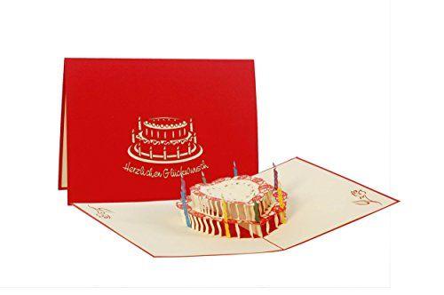 Glückwunschkarte für Essens-Einladung und Restaurant-Gutschein 3D P Gruß