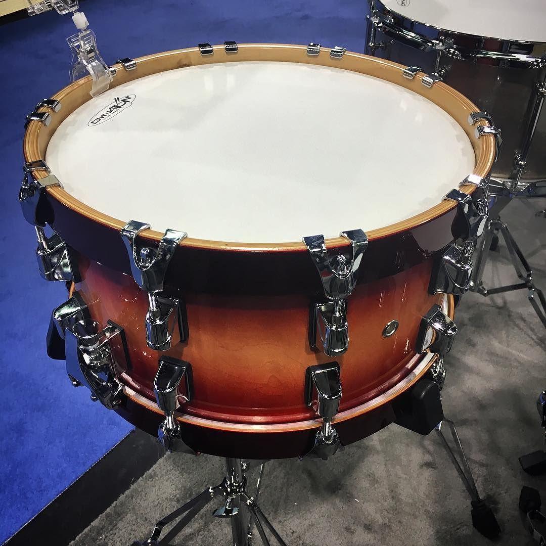 drumstaye 7x14 studiomaple candy red snare with wood hoops namm2016 drums snaredrum drums. Black Bedroom Furniture Sets. Home Design Ideas