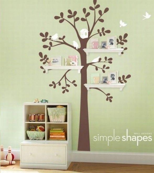 Pintura em parede: árvore #Pintura #Parede #Arte #Quarto #Árvore