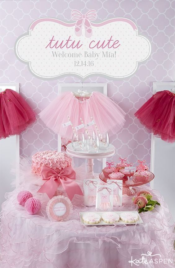 8 Darling Details For A Tutu Cute Baby Shower Proud Girl Mommy
