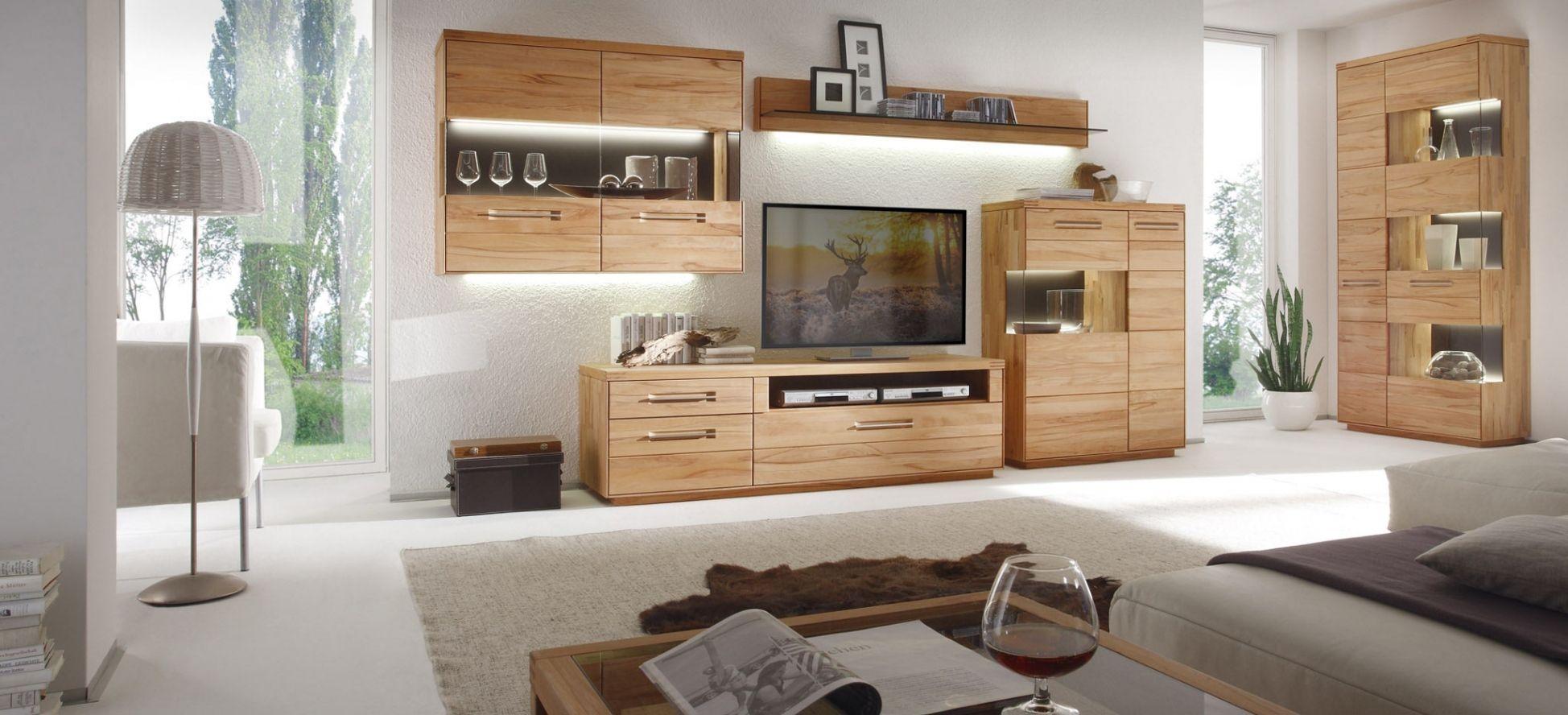 Stilvoll Massivholzmöbel Wohnzimmer