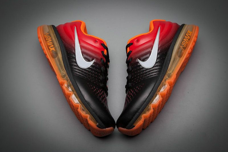 Leather Nike Air Max 2017 Gradual Change Orange Black White