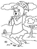 Yogi Bear Coloring Pages Memes Pictures Bear Coloring Pages Bear Cartoon Cartoon Coloring Pages