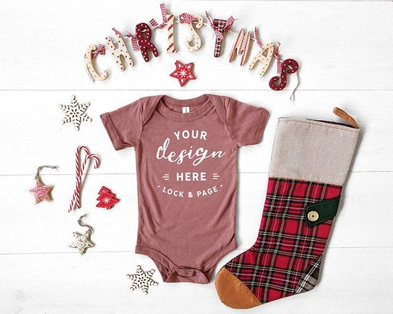 61a9c5ff8 Mauve Bella Canvas 134B Triblend Christmas Baby Romper Suit Mockup, One  Piece Xmas Themed Body Suit Flat Lay, Baby Boy Girl Mock Up