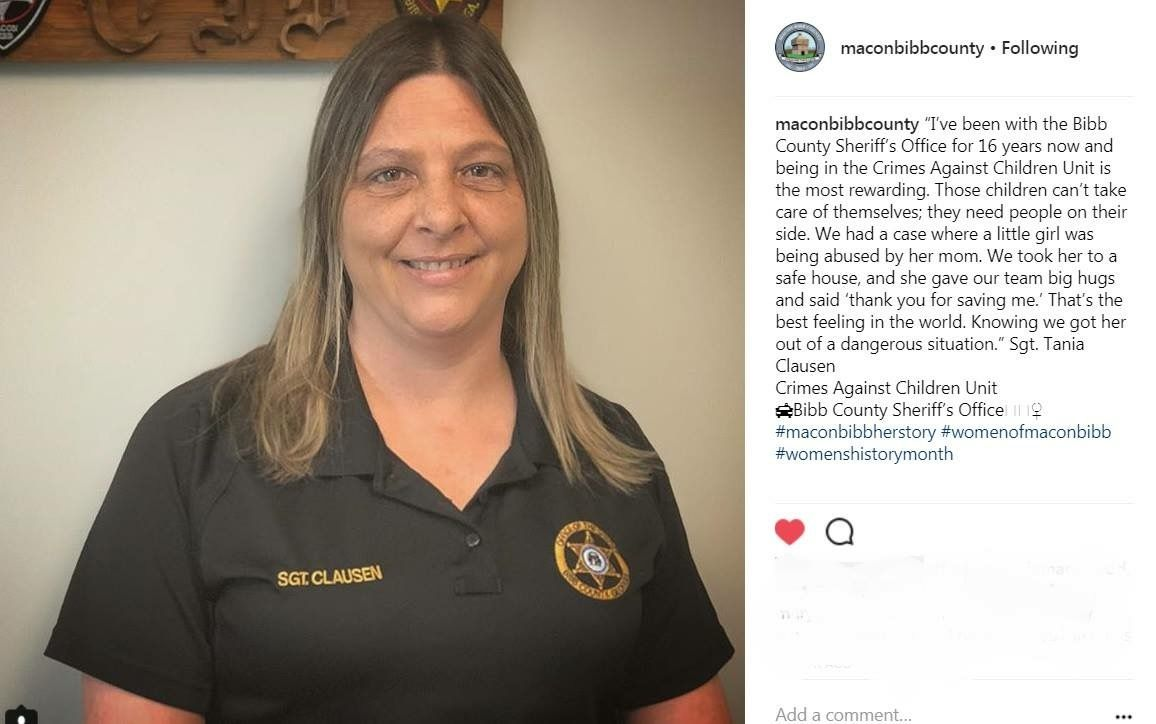Our Bibb County Sheriff's Office Sgt  Tania Clausen is honored by