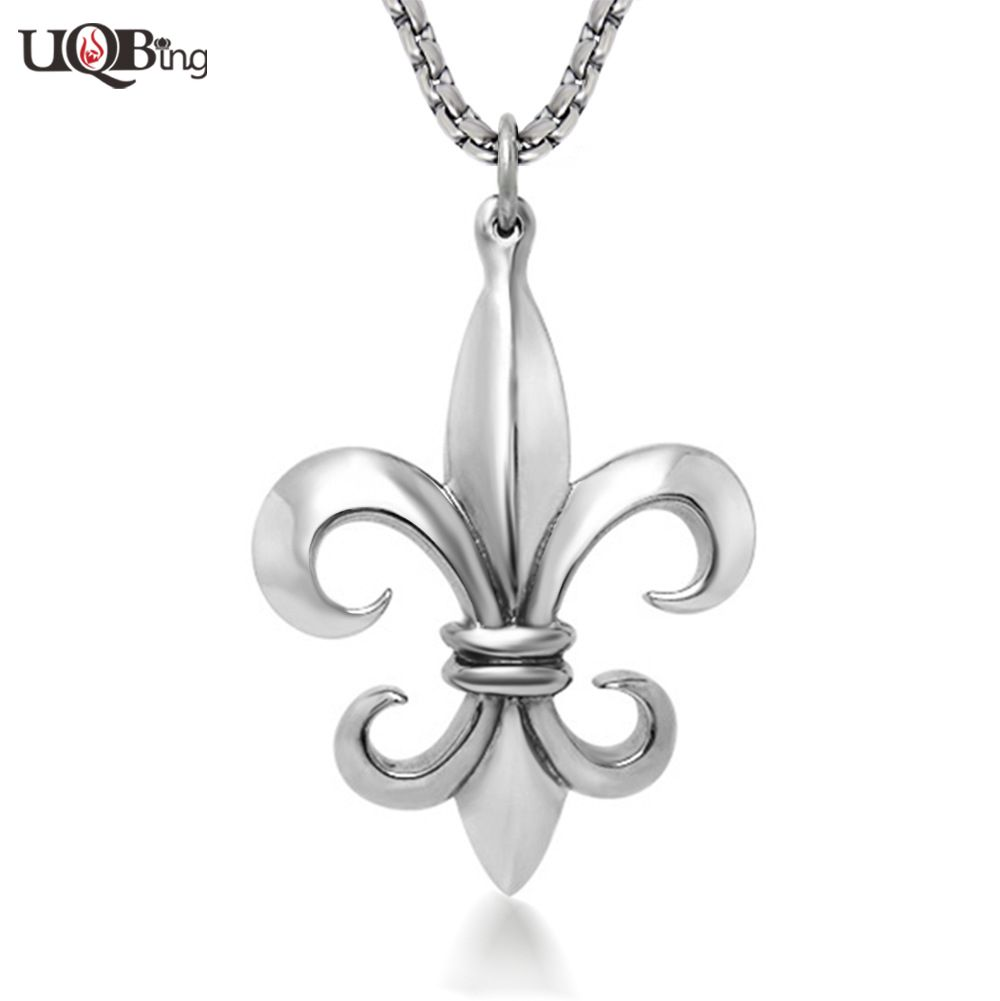 Fashion Mens Stainless Steel Delicate Scout Flower Pendants Jewelry