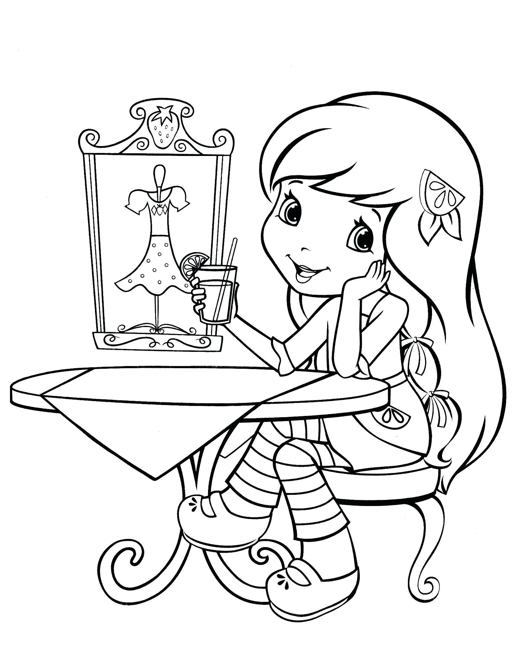 4 Worksheet Strawberry Shortcake Coloring Pages For Kids