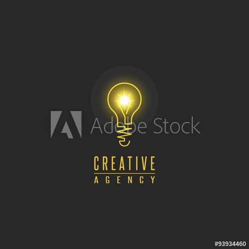 Light Bulb Logo Lamp Shine Creative Innovation Sign Web Development Advertising Design Agency Emblem Idea Power Te Light Bulb Logo Lighting Logo Lamp Logo