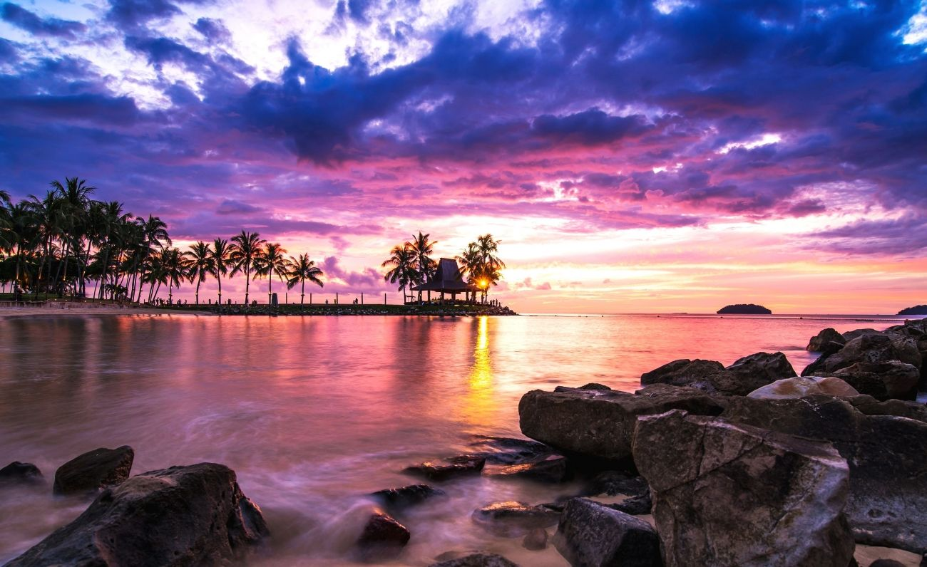 Download A Pink Wallpaper High Quality Hd Wallpaper In 2k 4k 5k 8k 10k Resolution For Your Desktop Mobi Beach Sunset Wallpaper Beach Wallpaper Sunset Wallpaper