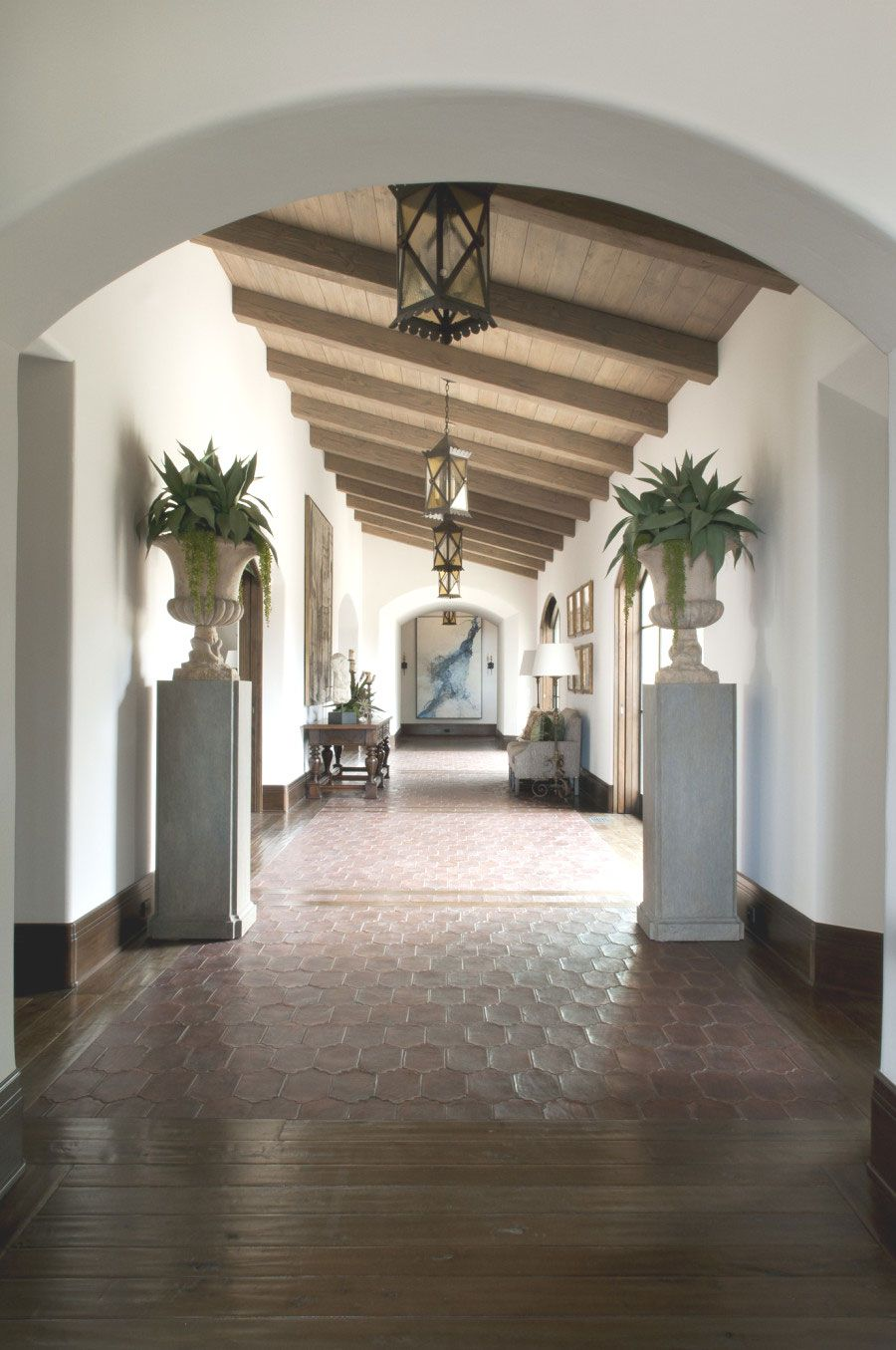 Love The Arched Foyer Archive Spanish Style Homes