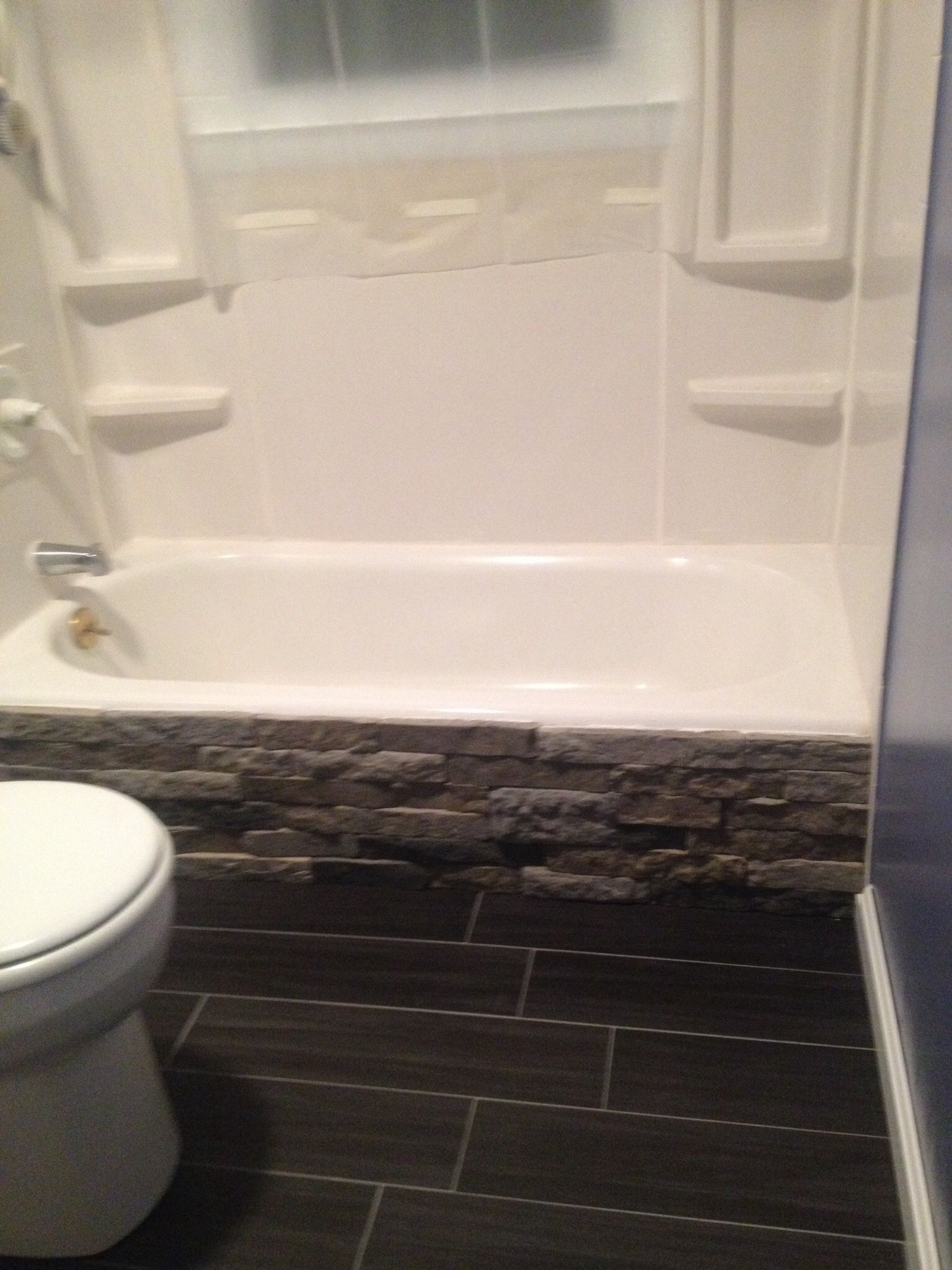 Remodeled the bathroom, but couldn\'t afford to replace the tub ...