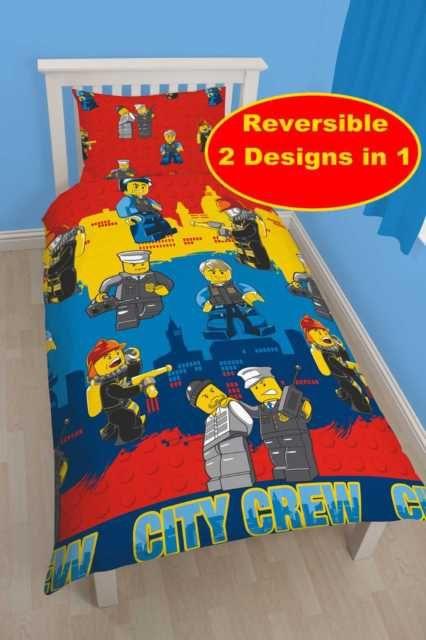 New lego city single duvet quilt cover boys girls kids bedroom ...