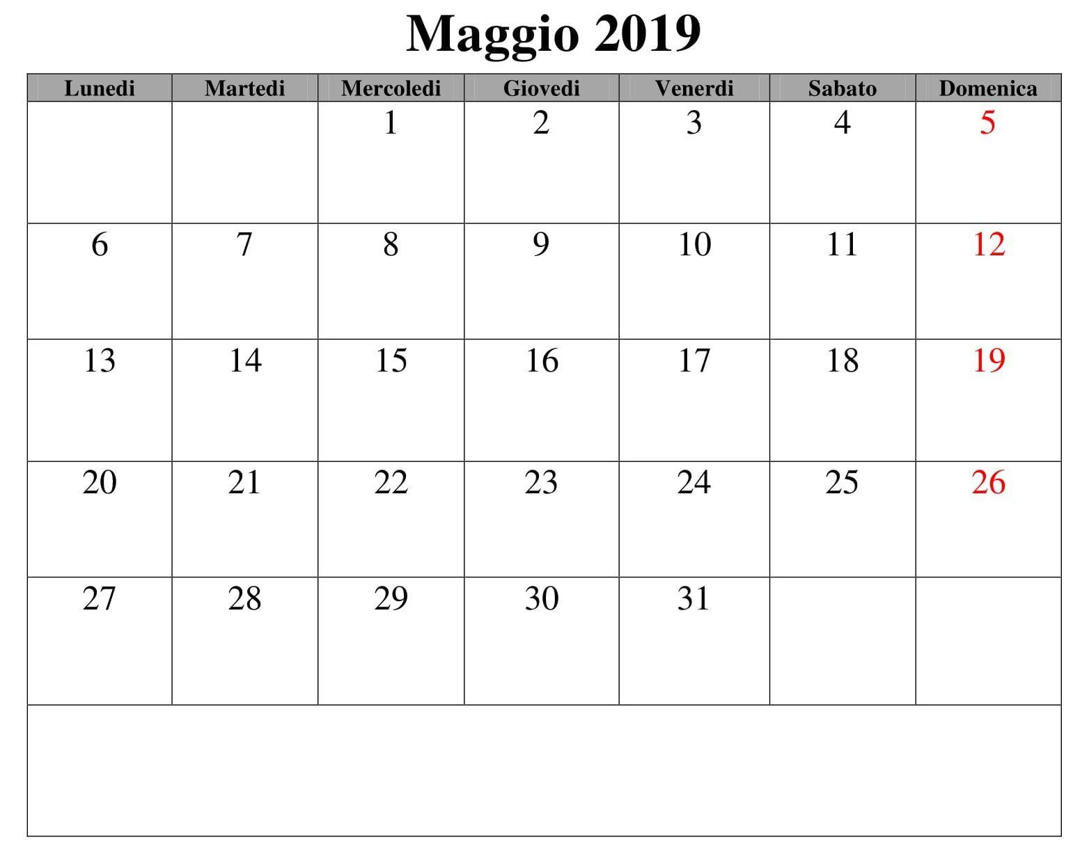 Calendario Design Maggio 2019 Pdf Maggio Calendario 2019 June