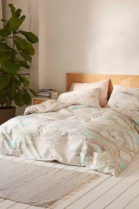 housse de couette et taie d 39 oreiller imprim marbr home decor pinterest housse de. Black Bedroom Furniture Sets. Home Design Ideas