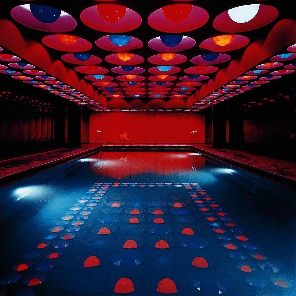 Verner panton interior design - Swimming Pool By Verner Panton Hamburg 1969