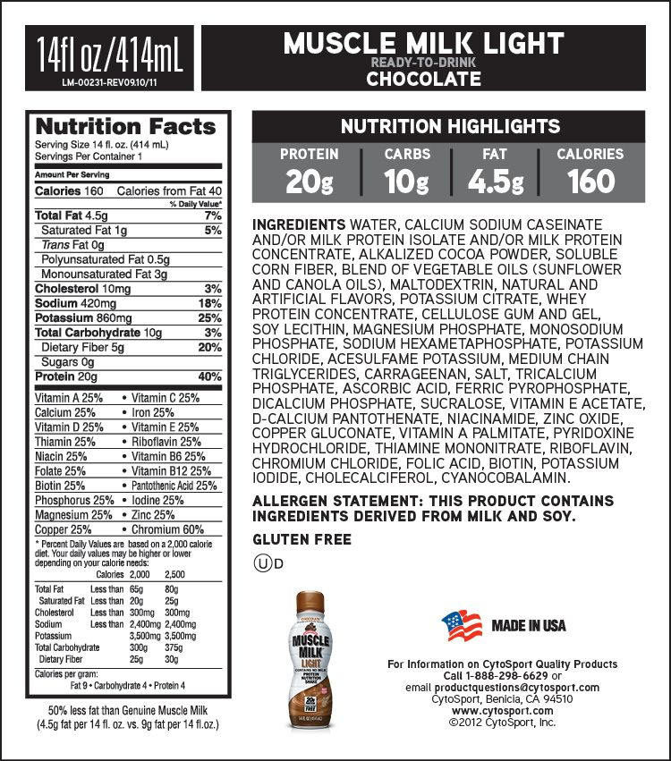 Muscle Milk Chocolate Light Yum Muscle Milk Muscle